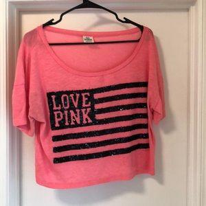 Pink light weight tee shirt